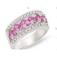 Best Diamond & pink topaz ring wholesale