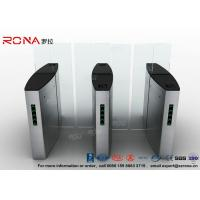 Best Building Access Control Turnstile Flap Barrier Automatic With Polishing Surface wholesale