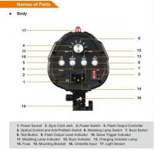 Cheap Smart Series Plug-in Flash Tube Studio Flash 300WS   for sale