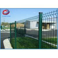 Best Green Vinyl Coated Welded Wire Fencing Panels , Welded Wire Dog Fence Multi Purpose wholesale