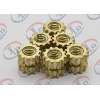 Best CNC Machine Parts Brass Gear Shape Nuts For Plasctic Inserts , SGS ISO Listed wholesale
