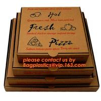 Best Cheap Custom offset printing corrugated pizza box, micro-flute die cut corrugated pizza boxes, kraft paper pizza box, cu wholesale