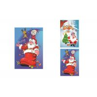 Best 2 Pictures Changed Lenticular Flip 3d Merry Christmas Greeting Card 12 x 17cm wholesale