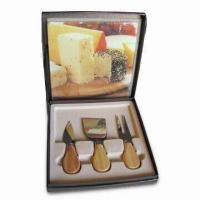 Best 4-piece Cheese Knife Set with Wooden Handle, Made of Stainless Steel wholesale