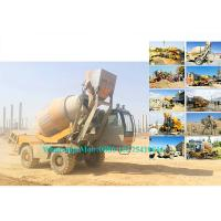 Best Rotating Drum Concrete Cement Mixer Machine Self Loading Mobile Type 2.0M3 Output wholesale