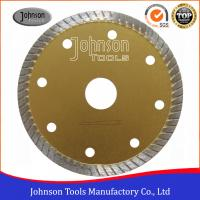 Best Tile Cutting Tools 105mm Sintered Turbo Saw Blade for Ceramic / Tiles Hot Press wholesale