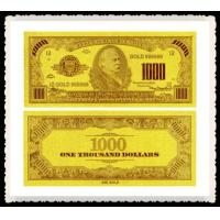 Best America $1000 24kt Gold foil banknote for collection gift , gold foreign money wholesale