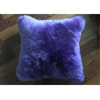 Best Pure Lambswool Decorative Lumbar Pillows , One Side Fur Sheepskin Car Seat Cushion  wholesale