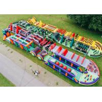 Best 185 Meters Long Big Adults Inflatable Obstacle Course Course From Guangzhou Inflatables Factory wholesale