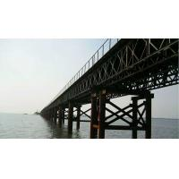 Prefabricated Steel Suspension Bridge Double Lane Modular Steel Bridge For Construction
