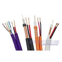Quality VR-90P Solid PE RG59 CCTV Coaxial Cable , 22 AWG BC with 2 × 0.75mm2 CCA Power wholesale