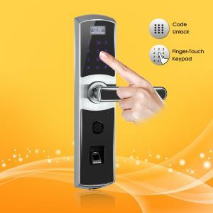 Best High Performance Fingerprint Digital Password Door Lock with Emergency Power Interface wholesale
