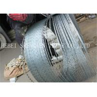 Best 22 mm Length Sharp Razor Barbed Wire Galvanized CBT - 65 Concertina For Fence wholesale