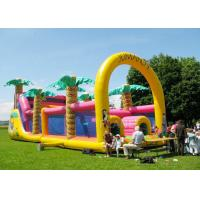 Best Commercial Grade Inflatable Obstacle Race Course Bounce House With Repair Kit wholesale