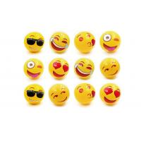 PVC Emoji Blow Up Balls 0.18mm Thickness Eco Friendly Material For Children Playing