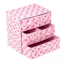 Best Foldable AZO Free Non Woven Storage Boxes with Drawers 3 Layer different color wholesale