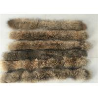Best Raccoon Cream Fur Collar For Garment  Accessories , Long Hair Vintage Fur Collar  wholesale