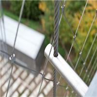 2mm Thickness 50mm Hole Size Outdoor Architectural Flexible Stainless Steel Wire