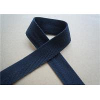 Best Blue Printed Elastic Webbing Straps Single Fold 2 Cm Width For Bags wholesale