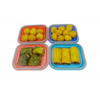 Best Small Silicone Collapsible Lunch Box 1 Compartment Square Shape wholesale