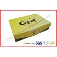 Best Yellow Square Cigar Gift Box CMYK Printing Paper with Embossing Logo wholesale