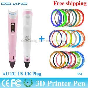 Best Pink Digital Printer 3D Air Pen Modeling ABS Filament Arts LED Display wholesale
