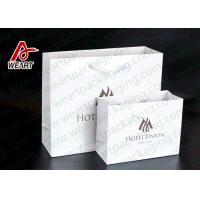 China Two Sizes Branded Custom Printed Paper Bags Promotional Use OEM / ODM on sale