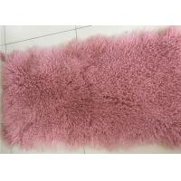 Best Luxurious Purple Dyed Real Sheepskin Rug 2 X 4 Inch Warm For Cushions / Seat Covers wholesale