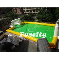 Cheap Sealed Inflatable Football Games Inflatable Football Pitch Logo Printed wholesale