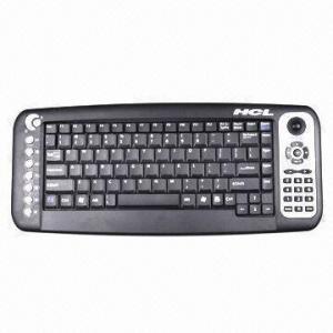 Best Wireless RF Trackball Multimedia Keyboard wholesale