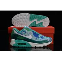 Best Nike Air Max 90 Hyperfuse Women Green Blue White Shoes wholesale