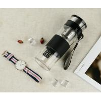 Best Daily Used Borosilicate Glass Water Bottle With Tea Filter / Transparent PP Lid wholesale