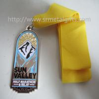 Best Metal Marathon relay medal with ribbon, epoxy hollow Marathon race medallions, wholesale