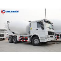 China Large Howo 8 * 4 12m3 Cement Pump Truck , 3 Yard Mobile Cement Mixer Trucks on sale