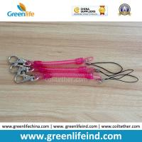 Best Rose Red Slim Coil Key Chain W/Mini Lobster Claw Tether wholesale