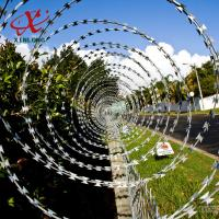Best CBT BTO Razor Security Barbed Wire for Railway and Lawn with Single / Cross Coil wholesale