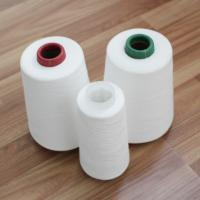 Cheap Z / S Twist Raw White Polyester Yarn for Sewing Thread OEM Manufacture for sale