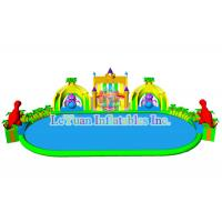Best Mobile Huge Inflatable Water Park / Outdoor Inflatable Swimming Pool Slides wholesale