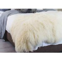 Best Curly Hair Extra Large Mongolian Sheepskin Rug With Natural Tibet Lamb Skin wholesale