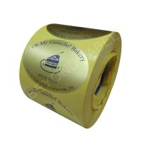 Best Promotional Customised Oval Shaped Self Adhesive Kiss cut Labels wholesale
