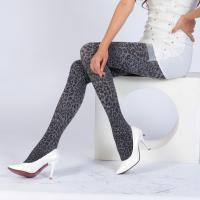 Best Womens Fashion Nylon/Spandex Jacquard Cheetah Pantyhose wholesale