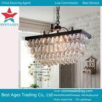 Quality Modern Rain Drop Crystal Ceiling Lighting Pendant Lamp Smallpox Chandelier Light wholesale