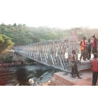 Quality Timber Deck Bailey Steel Truss Bridge Compact With Single Lane wholesale