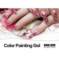 Best Harmless Gel Nail Paint Polish Strong Adhesion MSDS / SGS Authentication wholesale