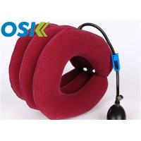 Best Medical Cervical Support Brace Flannel Cloth Material With Rubber Tube Steel Valve wholesale