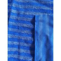 Best 160cm Width Warp Knitting Blue Eight Grid Microfiber Cleaning Cloth SGS wholesale
