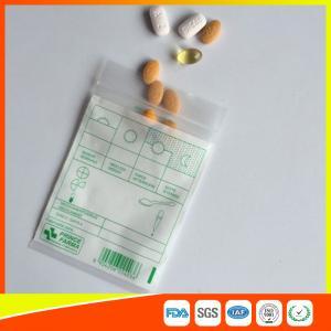 Best Tablet Drug Packaging Ziplock Pill Bags , Medicine Plastic Bag With Zip Seal wholesale