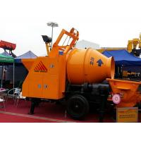 Best Mobile Diesel Portable Hydraulic Trailer Mounted Concrete Mixing Pump With Mixer wholesale
