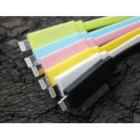 Best Colorful iPhone Micro 1M TPE 2 IN 1 USB Sync Charger Cable With Dual Charging wholesale