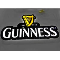 Best LED illuminated Beer Plexglass Bar Sign For Displaying Beer Customized Logo Shape wholesale